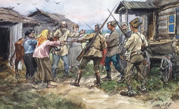 Реквизиция крупного рогатого скота для Красной армии