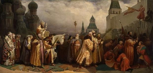 Вербное воскресенье в Москве во времена царя Алексея Михайловича