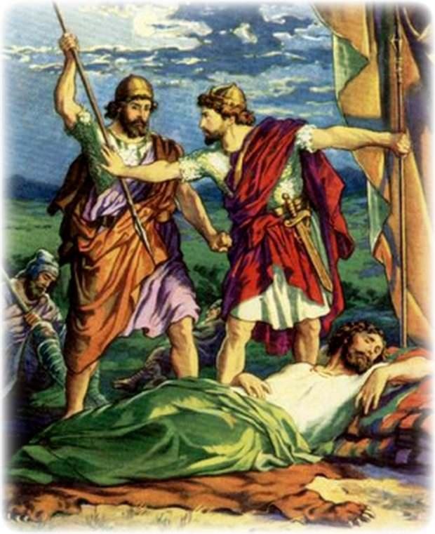 Давид перед спящим СауломДавид перед спящим Саулом