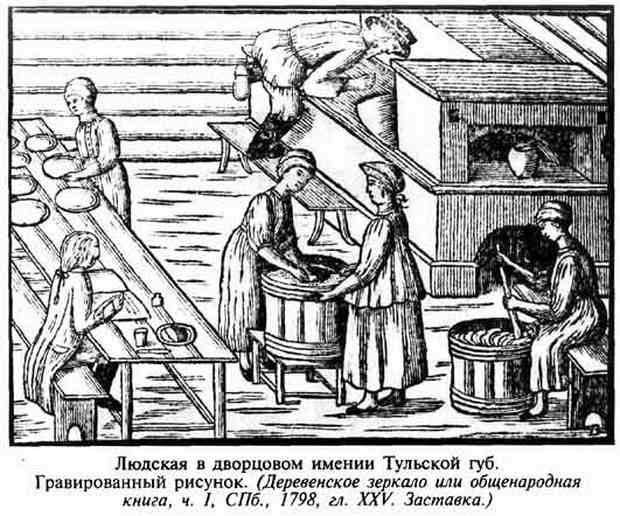 Основой питания крестьян был ржаной хлеб. Из-за недостатка времени у женщин, его пекли раз в неделю.