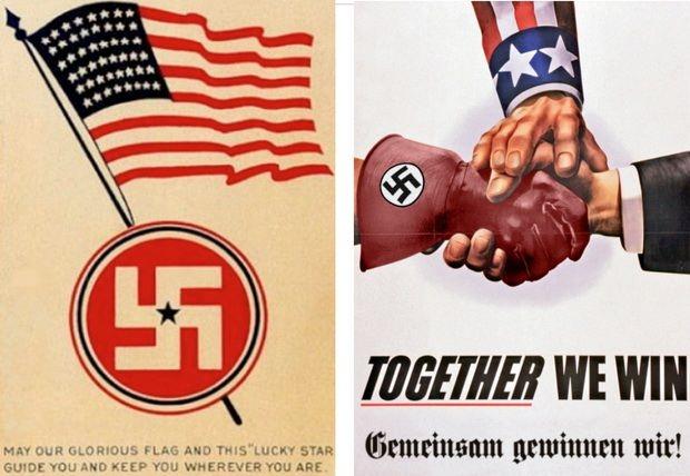Некоторые американские компании в годы войны поставляли топливо и вооружение и своей армии, и гитлеровцам.