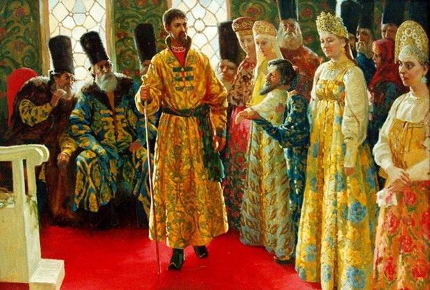 Иван Грозный выбирал себе жен и честно с ними венчался