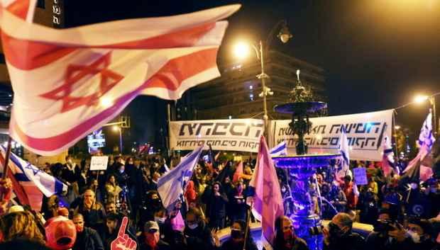 В Израиле тысячи людей приняли участие в протестах против Нетаньяху