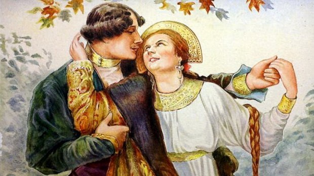 Поцелуй как знак согласия выйти замуж