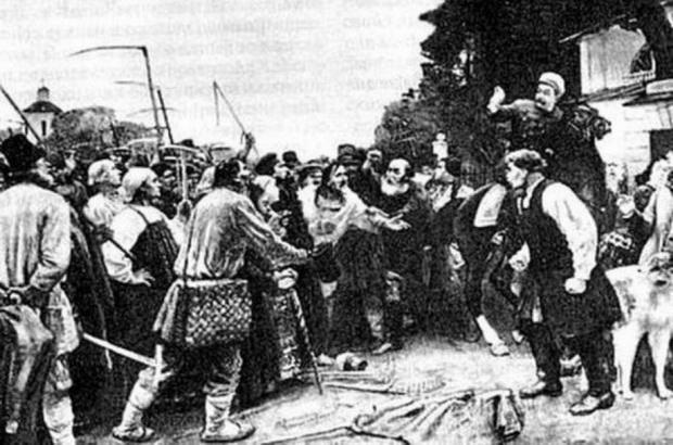 Отмену крепостного права в деревне встретили без особой радости, а кое-где мужики даже взялись за вилы – думали, помещики их обманывают.
