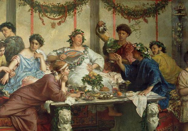 Быт богатых граждан Римской империи / Фото: britannica.com